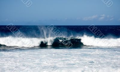 Surf on a windy day