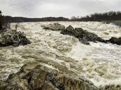 Great Falls in Flood