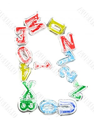You can write messages with this letters series