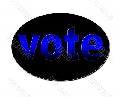 Blue Vote Badge