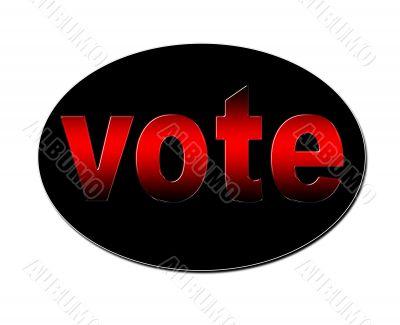 Red Vote Badge