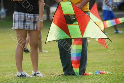 Teens and Kite