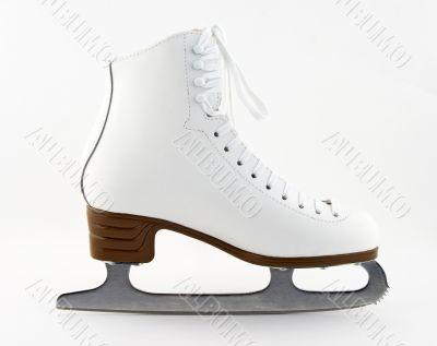 Elegant white figure skate
