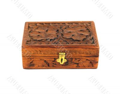 Engraved wooden box