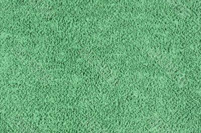 Worn green towel