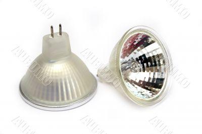 Fluorescent small spot light bulbs
