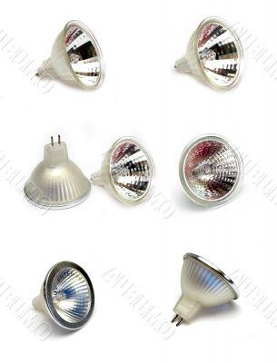 Giant plate of spot light bulbs