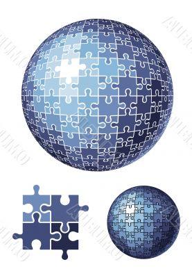 puzzle sphere / vector illustration
