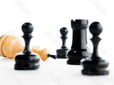 Fallen white King