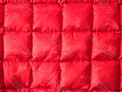 Red quilted blanket