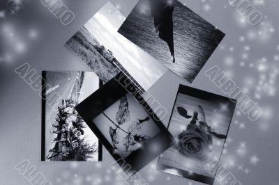 Photo Album with copy space