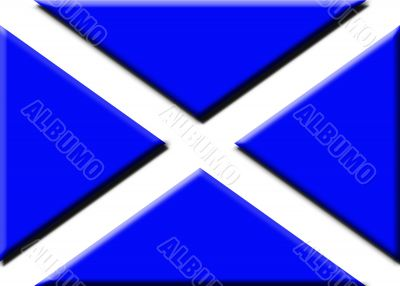 Embossed Scottish flag