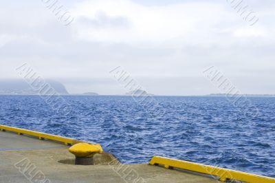 Mooring at Atlantic ocean