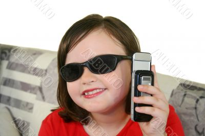 Child With Cell Phone 3
