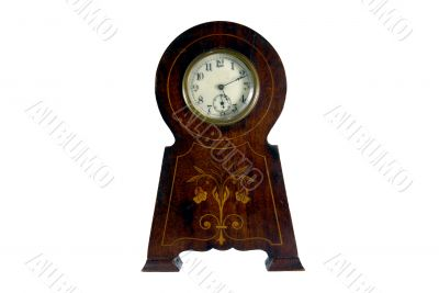 Rare antique Clock on a white background