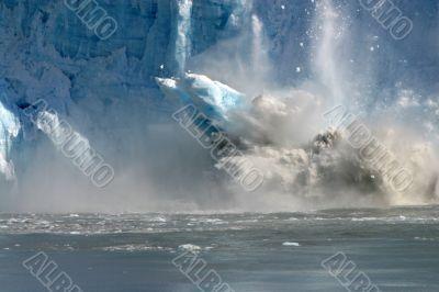 Huge chunk of glacier falling