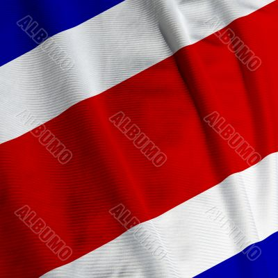 Costa Rican Flag Closeup