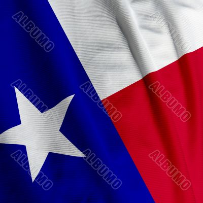 Texas Flag Closeup