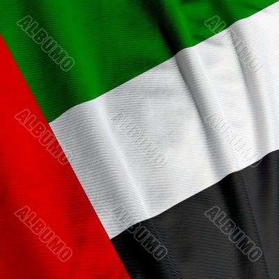 United Arab Emirates Flag Closeup