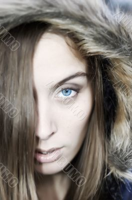 Blueye in hood