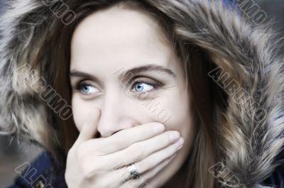 Blueyes laughing