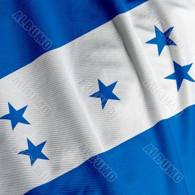 Honduran Flag Closeup