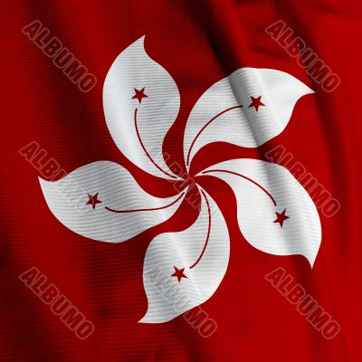 Hong Kong Flag Closeup