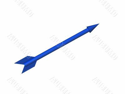 the dark blue arrow