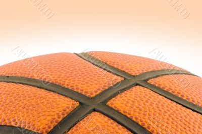 Basketball detail with clipping path