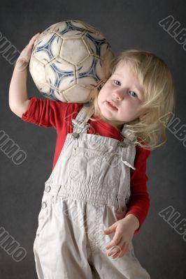 strong girl footballer