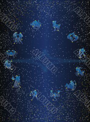 Zodiac postcard - type 2