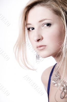 Beautiful womans face