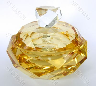 crystal vase Murano glass golden hue