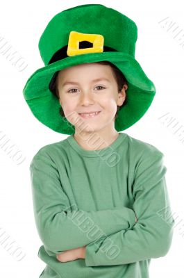 Child whit hat of Saint Patrick`s
