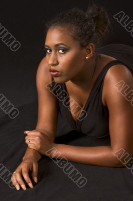 Glamorous African-American girl