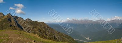 Western Caucasus panorama