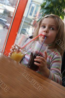drinking child