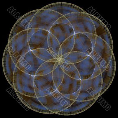 Circular Plaid Design