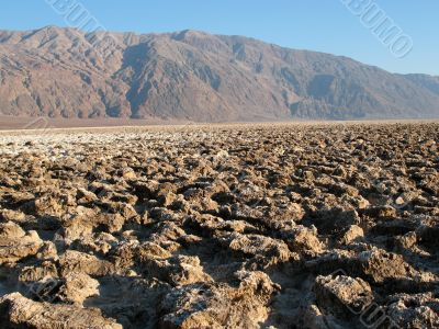 Devil`s Golf Course, Death Valley, California