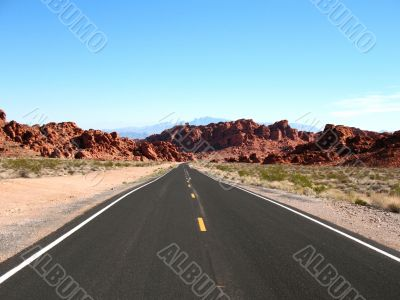 Road inValley of Fire, Nevada