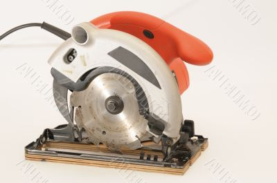 red circular saw