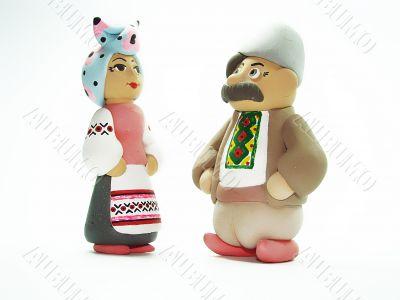Souvenirs. Ukrainian man and woman.