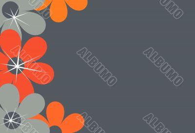 Flower border, background