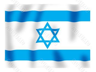 Israel fluttering