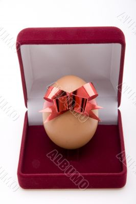 Easter Egg with red bow