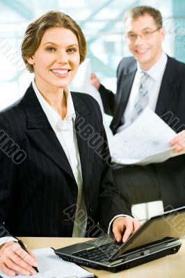 Confident employee