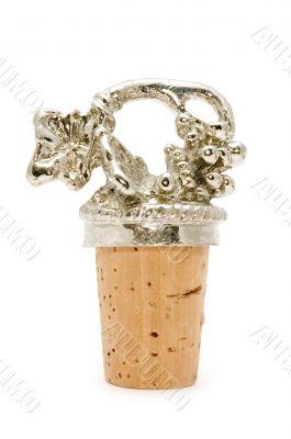 wine cork macro