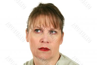 Frowning Middle Aged Female