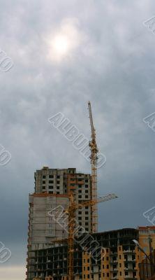 A under construction building.