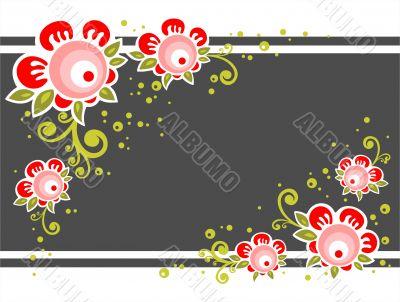 ornate flower background